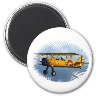 avión clásico imán redondo 5 cm