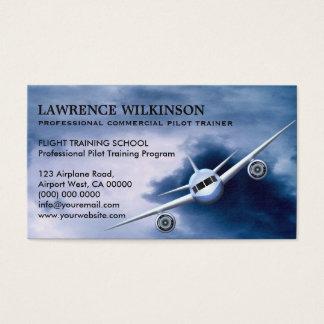Tarjeta De Visita Avión comercial en tarjetas de visita de la