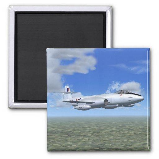 Avión de caza a reacción del meteorito de Gloster Imán De Frigorifico