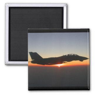 Avión de combate de F 14 Tomcat Imán Cuadrado