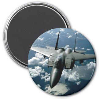 Avión de combate imán redondo 7 cm
