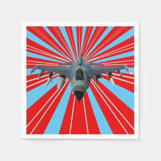Avión de combate servilleta de papel