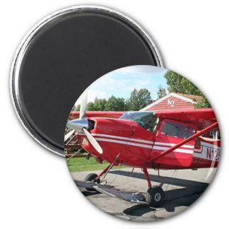 Avión de esquí, Talkeetna, Alaska, los E.E.U.U. Imán Redondo 5 Cm