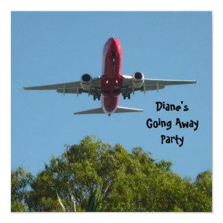 Avión de la invitación del fiesta de despedida