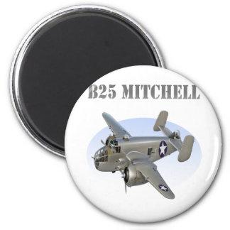 Avión de la plata del bombardero de B25 Mitchell Imán Redondo 5 Cm