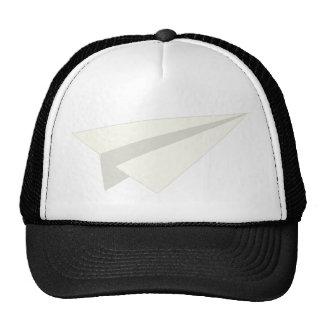 Avión de papel clásico gorras de camionero