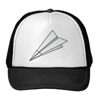 Avión de papel gorras de camionero
