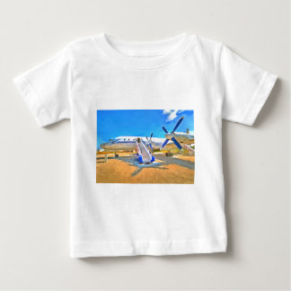 Avión de pasajeros del arte pop camiseta de bebé