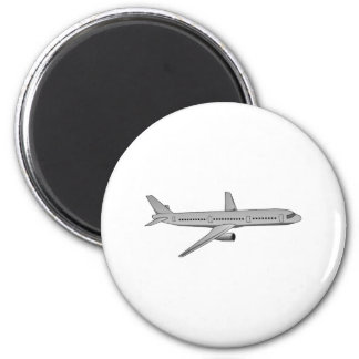 Avión de pasajeros imán para frigorífico