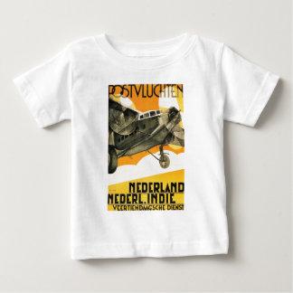 AVIÓN DE POSTVLUCHTEN. Anuncio retro 1933 del Camiseta De Bebé