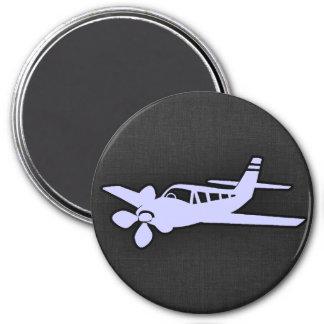 Avión del azul de la lavanda iman de nevera