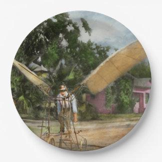 Avión - impar - el pájaro temprano 1910 plato de papel