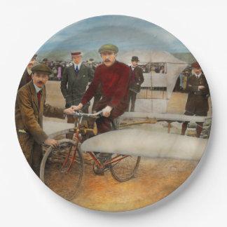 Avión - impar - fácil como montar una bici 1912 plato de papel