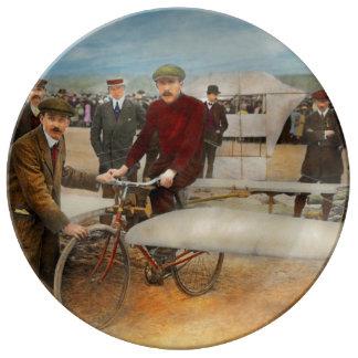Avión - impar - fácil como montar una bici 1912 plato de porcelana
