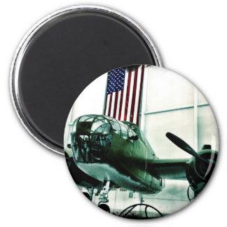 Avión patriótico de los militares WWII con la Imán Redondo 5 Cm