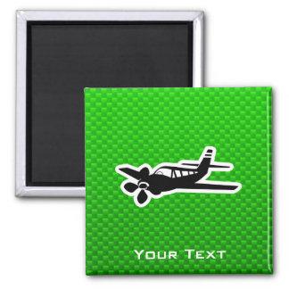 Avión verde iman de frigorífico