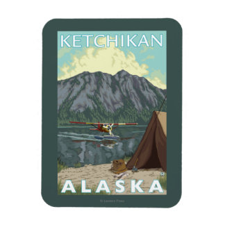 Avión y pesca - Ketchikan, Alaska de Bush Imán De Vinilo