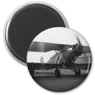 Aviones 1933 del vintage imán redondo 5 cm