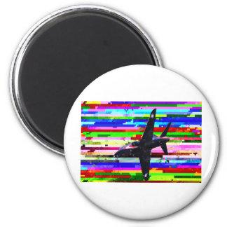Aviones de combate multicolores imán redondo 5 cm