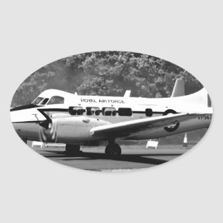Aviones de DH104 Devon Pegatina Ovalada