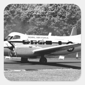 Aviones de DH104 Devon Pegatina Cuadrada