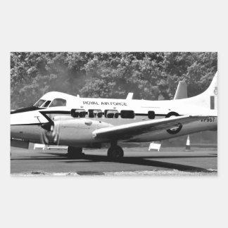 Aviones de DH104 Devon Pegatina Rectangular