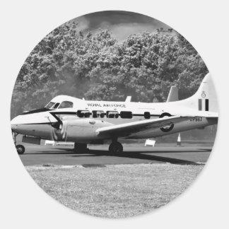 Aviones de DH104 Devon Pegatina Redonda