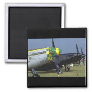 Aviones de Noses_WWII del mustango P51 Imán Cuadrado