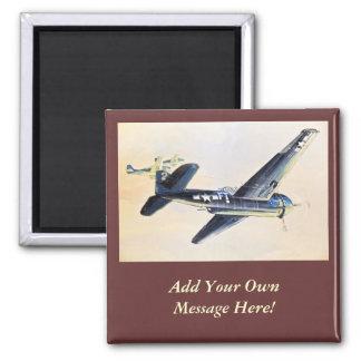Aviones de WWII Imán Cuadrado