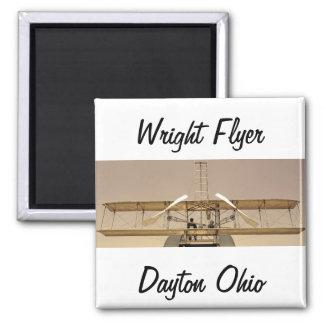 Aviones del aviador de Wright Imán Cuadrado