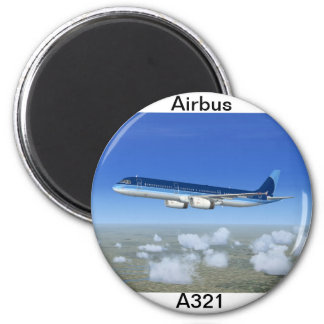 Aviones del avión de pasajeros del jet A321 Imán Redondo 5 Cm