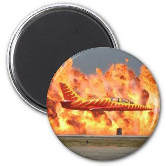 Aviones del bombero imán para frigorifico
