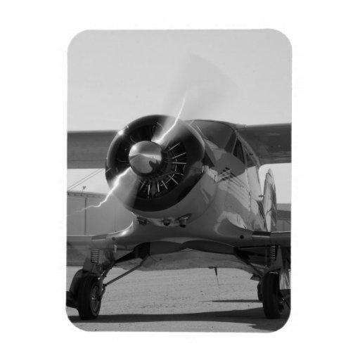 Aviones del vintage imán de vinilo