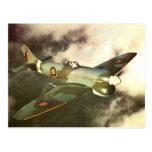 Aviones históricos del tiempo de guerra WW2 en Postal