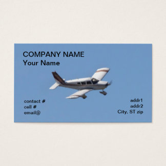 aviones ligeros del ala baja tarjeta de visita
