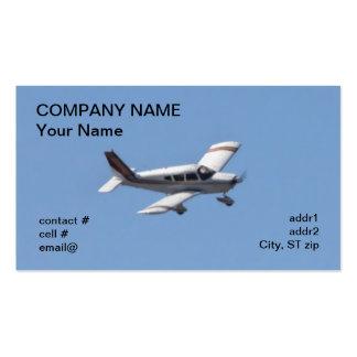aviones ligeros del ala baja tarjetas de visita