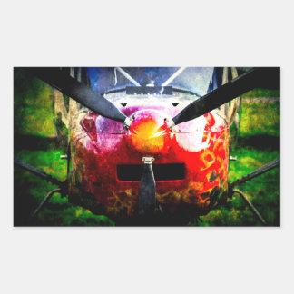 Aviones rojos - pequeños pero feroces pegatina rectangular