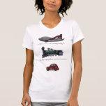 aviones y trenes y coches camisetas