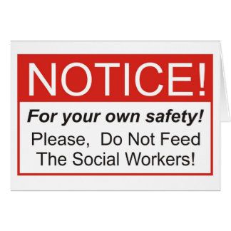 Aviso/asistente social tarjeta de felicitación