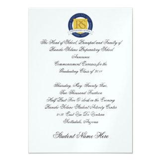 Aviso de la graduación de RSPS formal Invitación 12,7 X 17,8 Cm