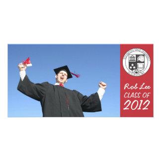 Aviso de la tarjeta de la foto de la graduación tarjetas fotográficas