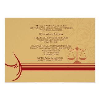 Aviso Inv de la graduación del colegio de abogados Invitación 12,7 X 17,8 Cm