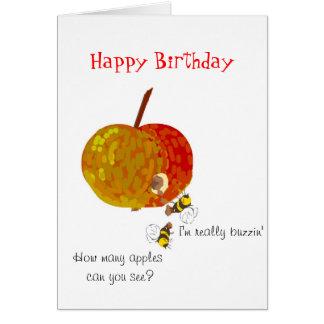 Avispas que beben la sidra, tarjetas de cumpleaños