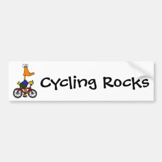 AY- dibujo animado de la bicicleta del montar a ca Pegatina Para Coche