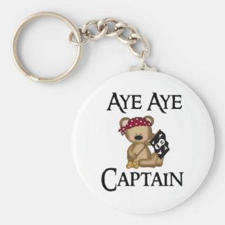Aye Aye llavero del pirata del oso del capitán pel