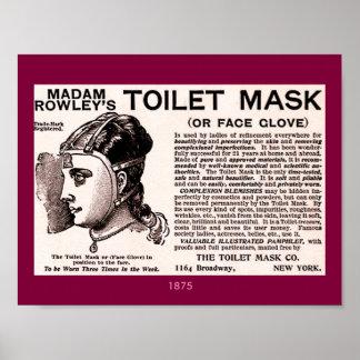 Ayuda 1875 de la belleza del vintage: Máscara del Póster