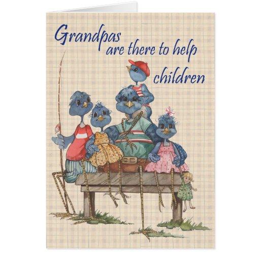 Ayuda de los abuelos - tarjeta de felicitación