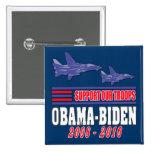 Ayuda de Obama Biden nuestras tropas Pin