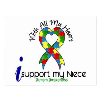 Ayuda del autismo I mi sobrina Tarjeta Postal