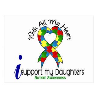 Ayuda del autismo I mis hijas Postal